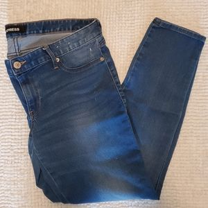 Express Low Rise Distressed Jeans Legging, 12